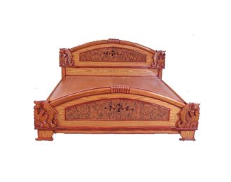 King sized wooden cot